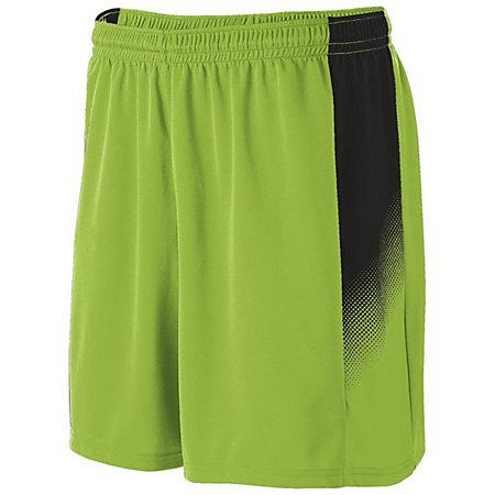 Youth Ionic Shorts Lime/black Single Soccer Jersey &