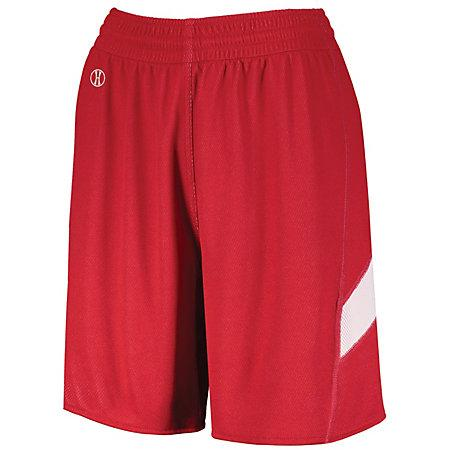 Ladies Dual-Side Single Ply Shorts Scarlet/white Basketball Jersey &