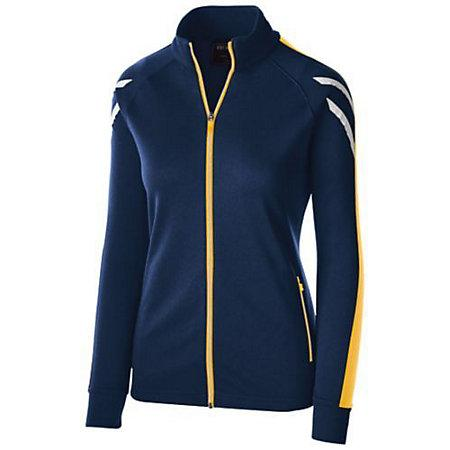 Ladies Flux Jacket Navy Heather/light Gold/white Softball