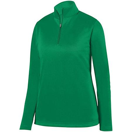 Ladies Wicking Fleece Pullover Kelly Softball