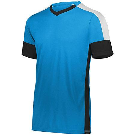 Youth Wembley Soccer Jersey Power Blue/black/white Single & Shorts