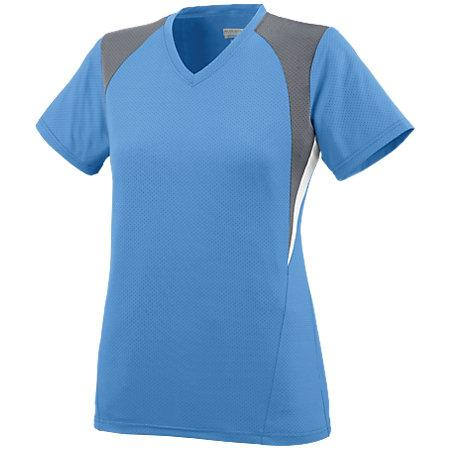 Ladies Mystic Jersey Columbia Blue/graphite/white Softball