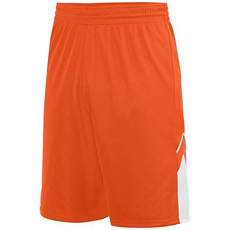 Youth Alley-Oop Reversible Shorts Orange/white Basketball Single Jersey &