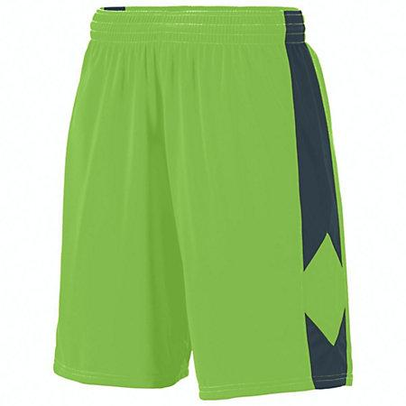 Youth Block Out Shorts Lime/slate Basketball Single Jersey &