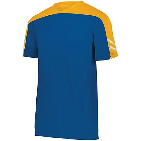 Youth Afield Soccer Jersey Royal/athletic Gold/white Single & Shorts