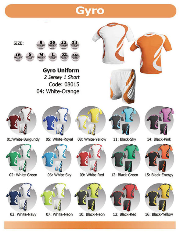Gyro 2 Jerseys & 1 Short