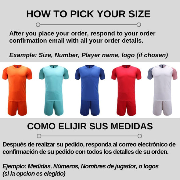 Black Y108 Youth Soccer Uniforms
