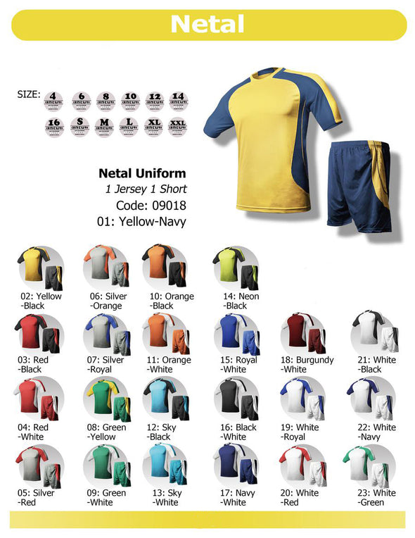 Netal Milano Uniform Set