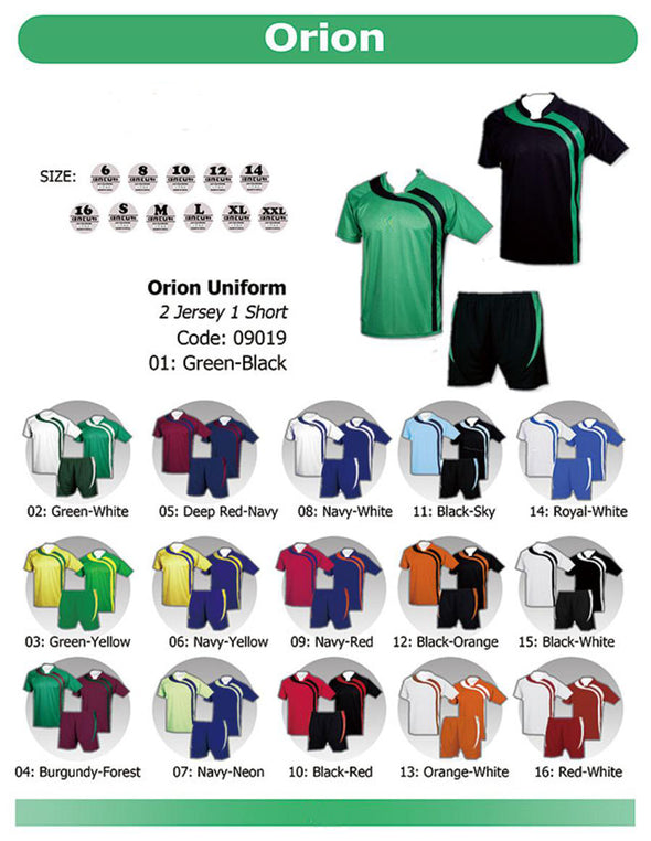 Orion 2 Jerseys & 1 Short