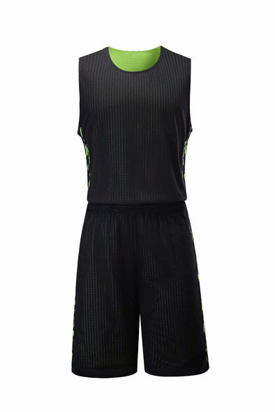 Reversible Black And Neon 101 Baskeball Uniforms