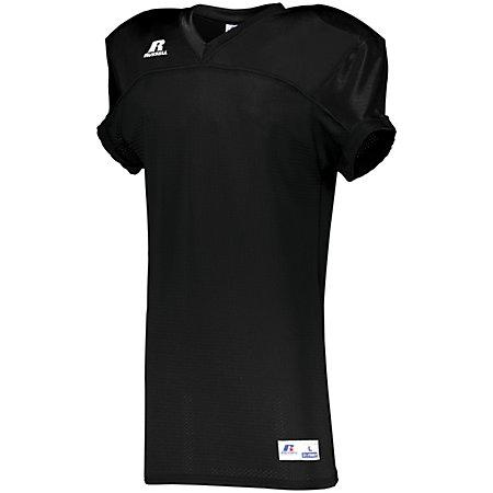 Stretch Mesh Game Jersey Black Adult Football