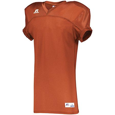 Stretch Mesh Game Jersey Burnt Orange Adult Football