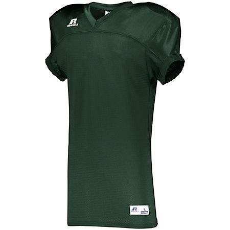 Stretch Mesh Game Jersey Dark Green Adult Football