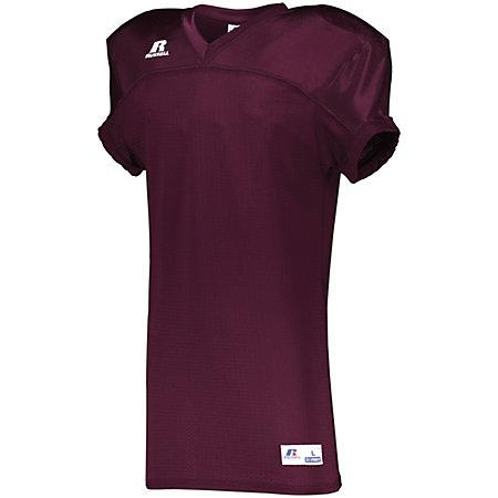 Stretch Mesh Game Jersey Maroon Adult Football