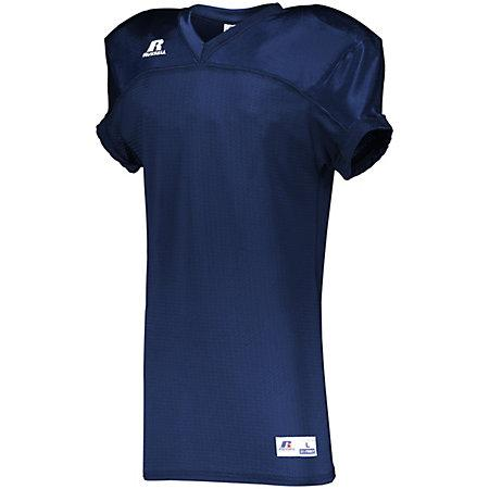 Stretch Mesh Game Jersey Navy Adult Football
