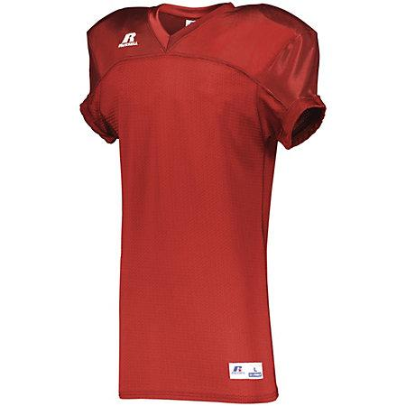 Stretch Mesh Game Jersey True Red Adult Football