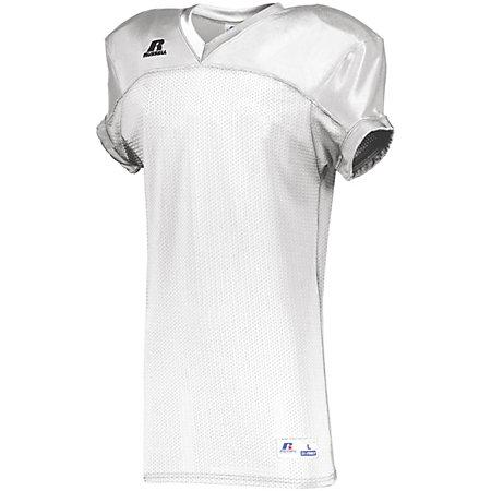 Stretch Mesh Game Jersey White Adult Football