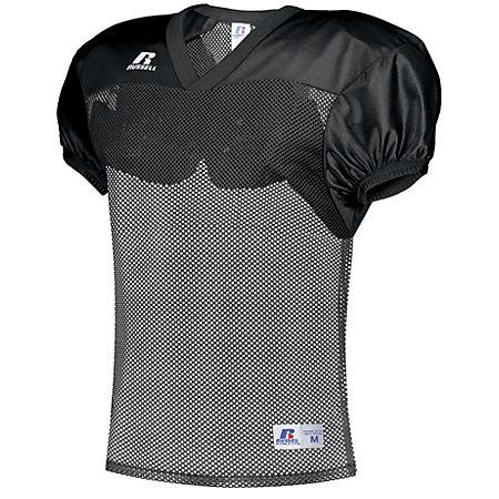 Stock Practice Jersey Black Adult Football
