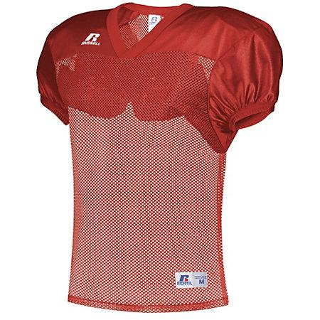 Stock Practice Jersey True Red Adult Football