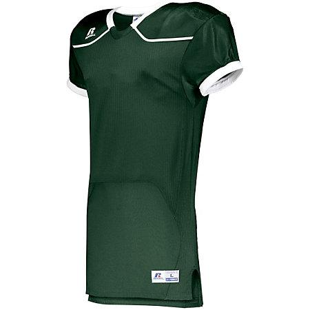 Color Block Game Jersey (Home) Dark Green/white Adult Football