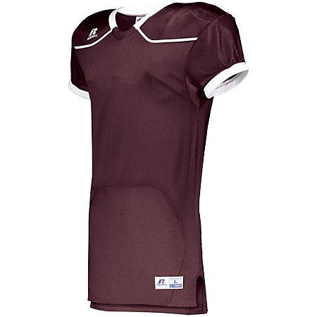 Color Block Game Jersey (Home) Maroon/white Adult Football