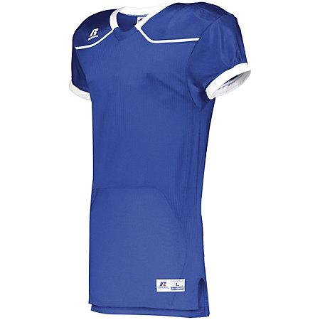 Color Block Game Jersey (Home) Royal/white Adult Football