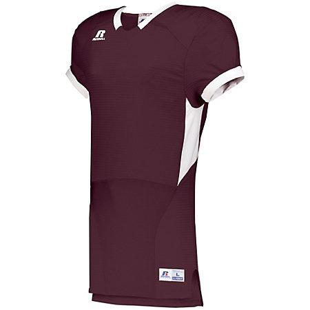 Color Block Game Jersey Maroon/white Adult Football
