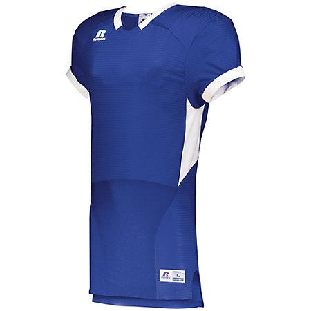 Color Block Game Jersey Royal/white Adult Football