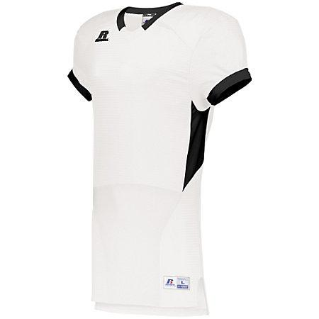 Color Block Game Jersey White/black Adult Football