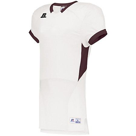 Color Block Game Jersey White/maroon Adult Football