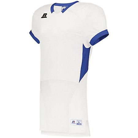 Color Block Game Jersey White/royal Adult Football