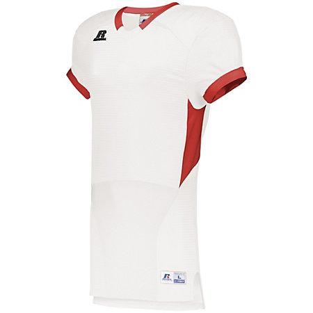 Color Block Game Jersey White/true Red Adult Football