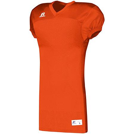 Solid Jersey With Side Inserts Burnt Orange Adult Football