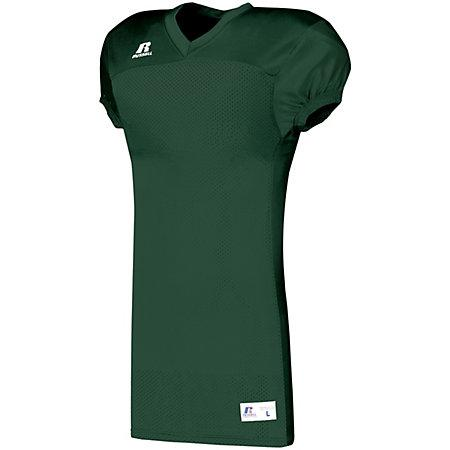 Solid Jersey With Side Inserts Dark Green Adult Football