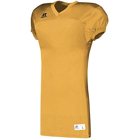 Solid Jersey With Side Inserts Gold Adult Football