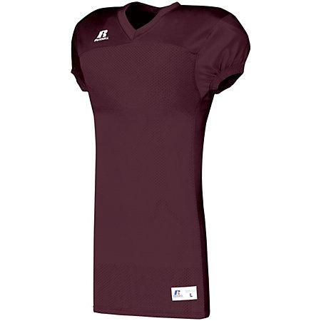 Solid Jersey With Side Inserts Maroon Adult Football