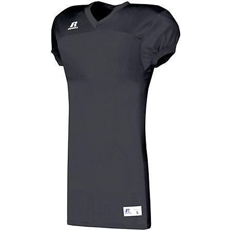 Solid Jersey With Side Inserts Black Adult Football