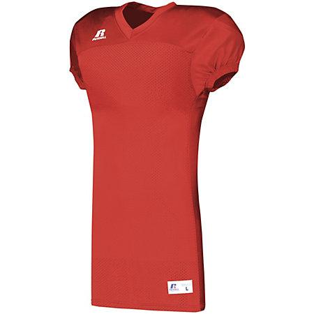 Solid Jersey With Side Inserts True Red Adult Football