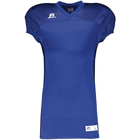 Solid Jersey With Side Inserts Royal Adult Football