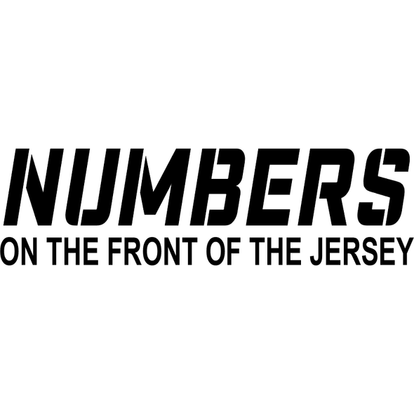 Numbers On The Front Of Basketball Uniform