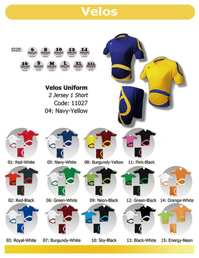 Velos 2 Jerseys & 1 Short