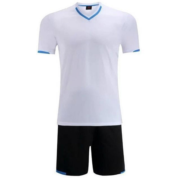 White Y108 Youth Soccer Uniforms