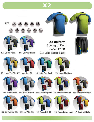XTwo 2 Jerseys & 1 Short