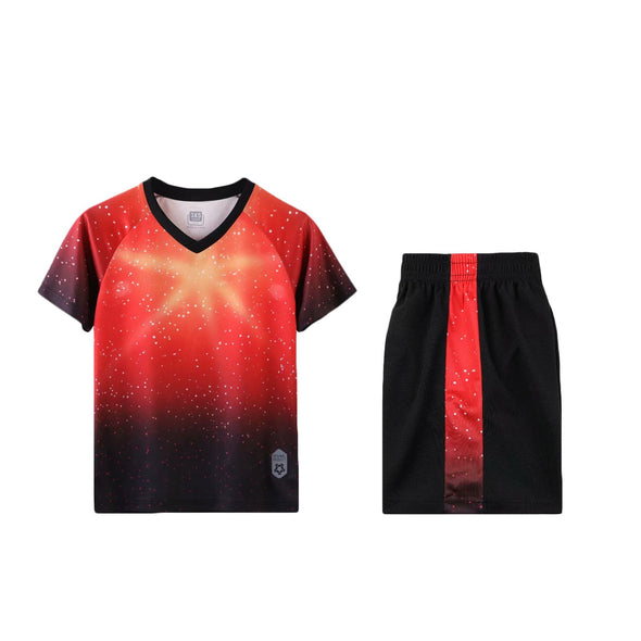 Red Galaxy Youth Ss Soccer Uniforms