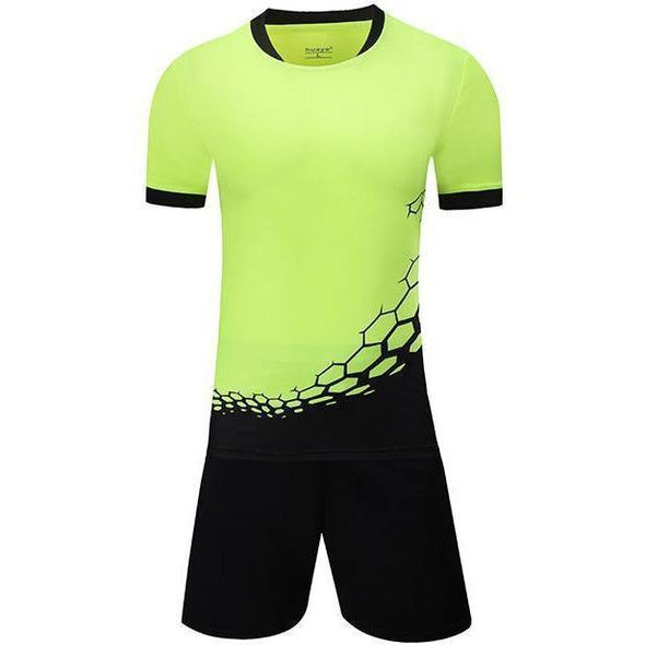 Yellow Y115 Youth Soccer Uniforms