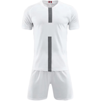Pari White Ss Adult Soccer Uniforms