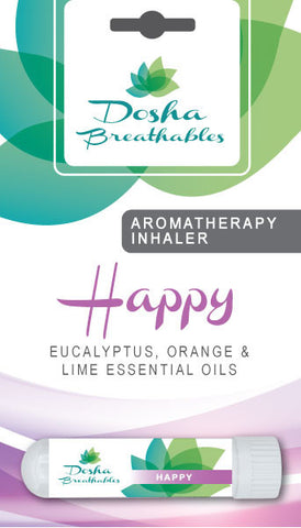 HAPPY Aromatherapy Inhaler - Organic Essential Oil Inhaler