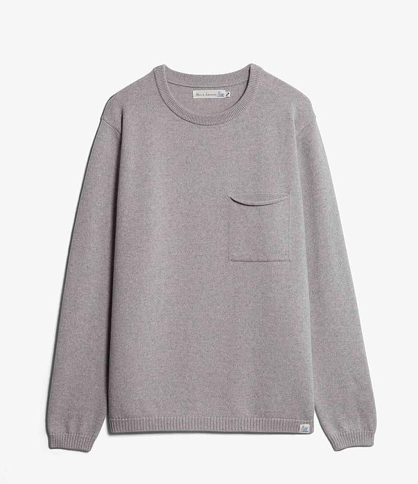 Merz B. Schwanen - Grey Good Basics Wool Pullover
