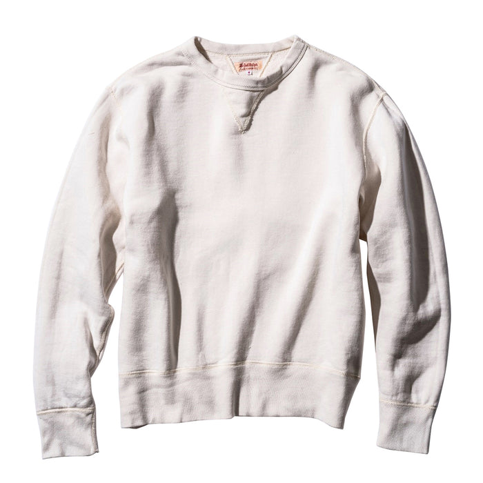 The Real McCoy's - 10 Oz loopwheeled Milk Crewneck Sweatshirt