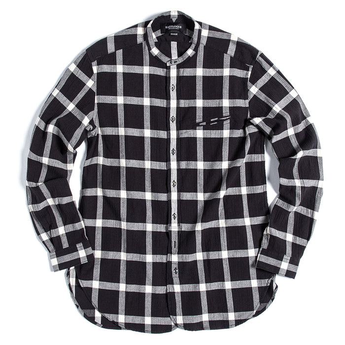 Eastlogue - B+W Check Band Collar Button Up Shirt